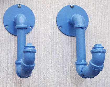 Wall Hanging Hooks Pipe Art (Set of 3) - Work Home Play