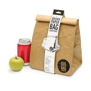 Insulated Lunch Bag - Brown Paper - Work Home Play