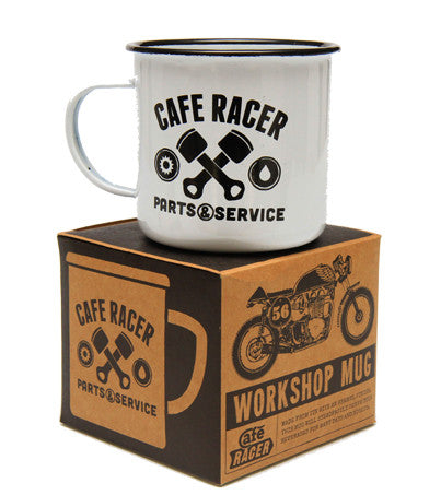 Cafe Racer Workshop Mug - Black - Work Home Play