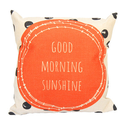 Cushion Cover - Good Morning  45x45 - Work Home Play