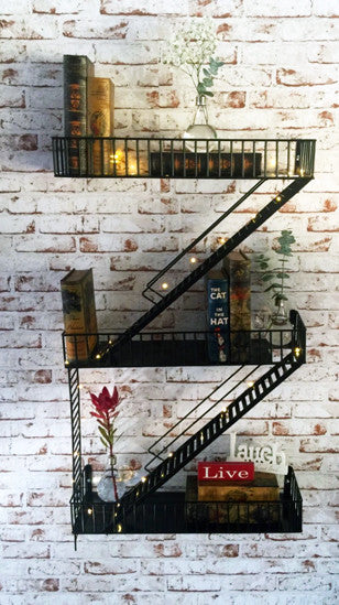Loft Staircase Shelf - Fire Escape - Work Home Play