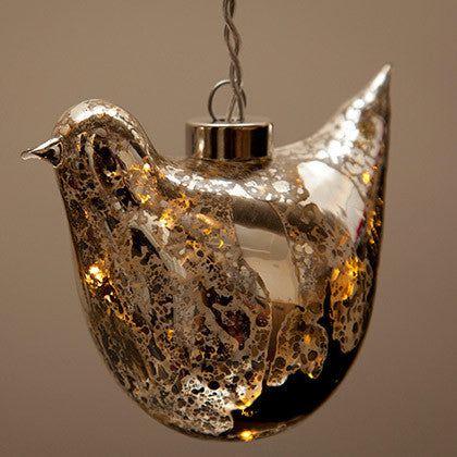 Glass Dove Light - Delicate Antique Look - Work Home Play