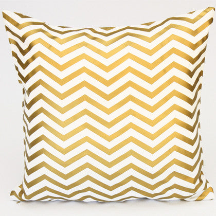 Metallic Gold Pattern Cushion Cover 45x45 - Work Home Play