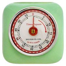 Dulton Magnetic  Industrial Retro Kitchen Timer - Mint Green - Work Home Play