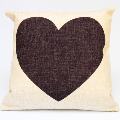 Cushion Cover - Heart  45x45 - Work Home Play