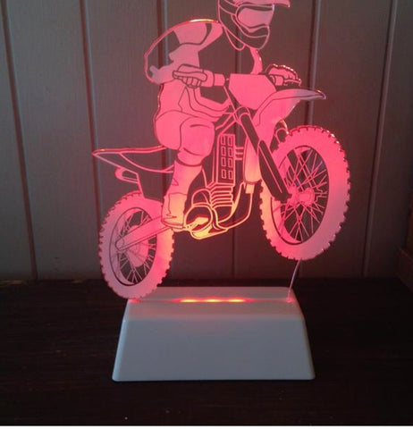 Night Light Motorbike - Work Home Play