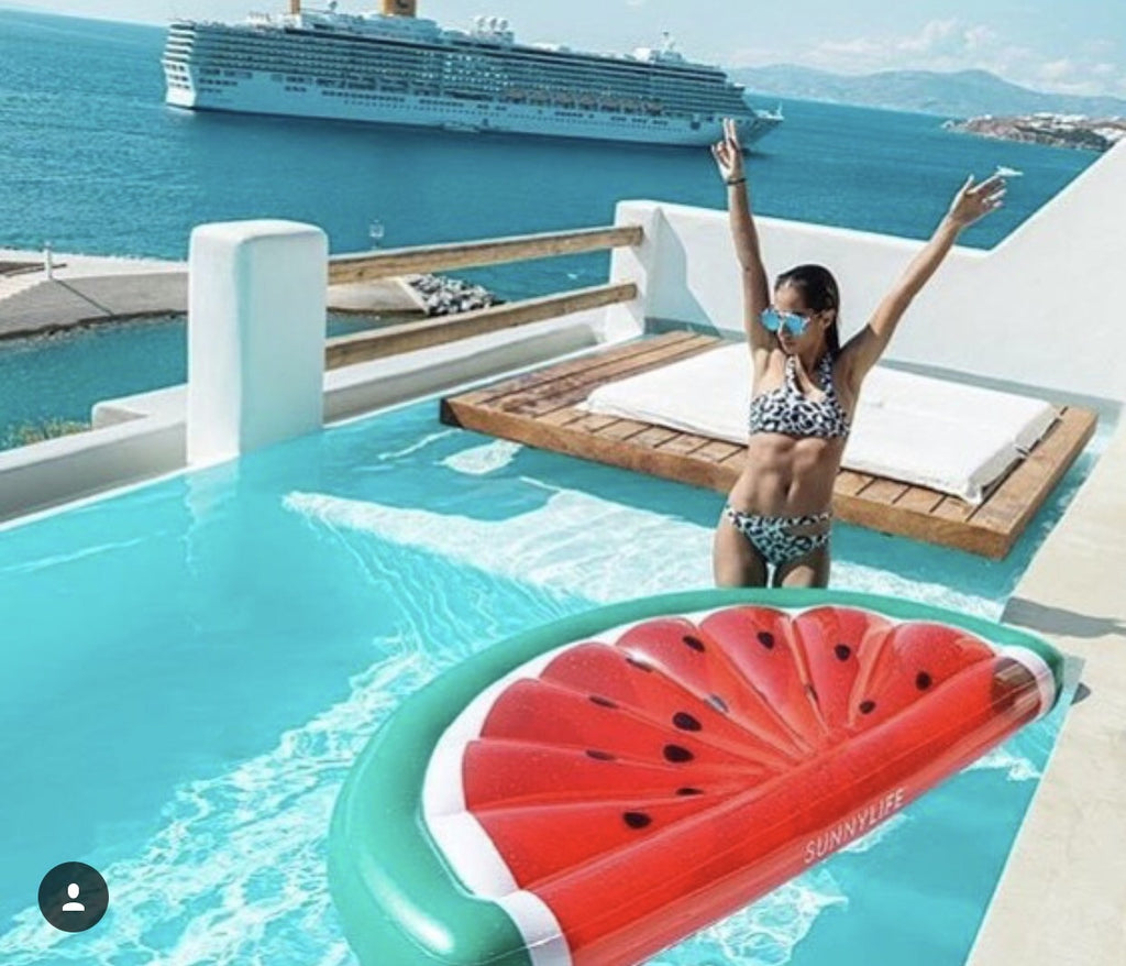 Luxe Lie On Watermelon Pool Float Work Home Play