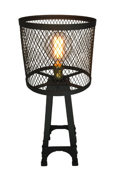 Industrial Vintage Style Lamp - Short Black Iron Wire - Work Home Play