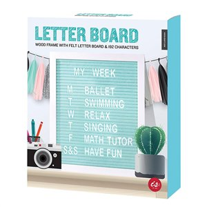 Letter Board - Work Home Play