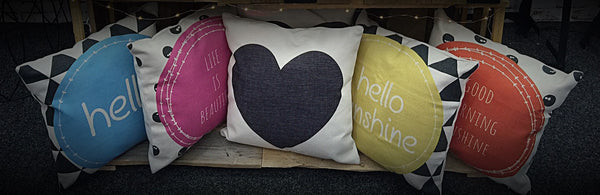 Cushion Cover - Hello Sunshine  45x45 - Work Home Play