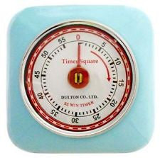 Dulton Magnetic  Industrial Retro Kitchen Timer - Blue - Work Home Play