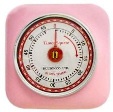 Dulton Magnetic Industrial Retro Kitchen Timer - Pink - Work Home Play