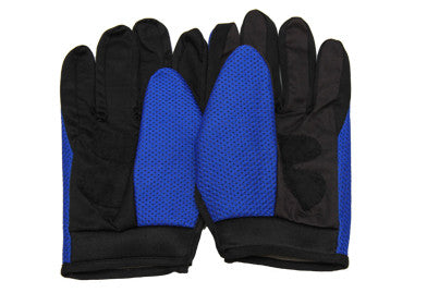 Racing Gloves, Motor Cross - Blue - Work Home Play