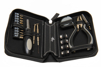 Designer Tool Kit with Leather Zip Case - Work Home Play