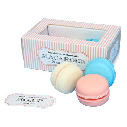 Macaroon Soaps 3 pack Pink, Green, Blue - Work Home Play