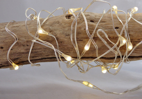 String Lights - Silver Wire 100 LED Electric