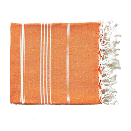 Turkish Towel - Orange - Work Home Play