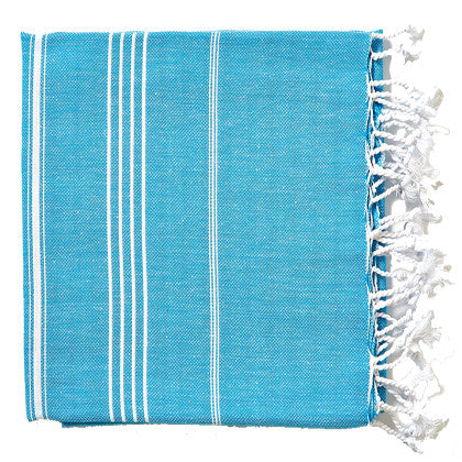 Turkish Towel - Turquoise - Work Home Play