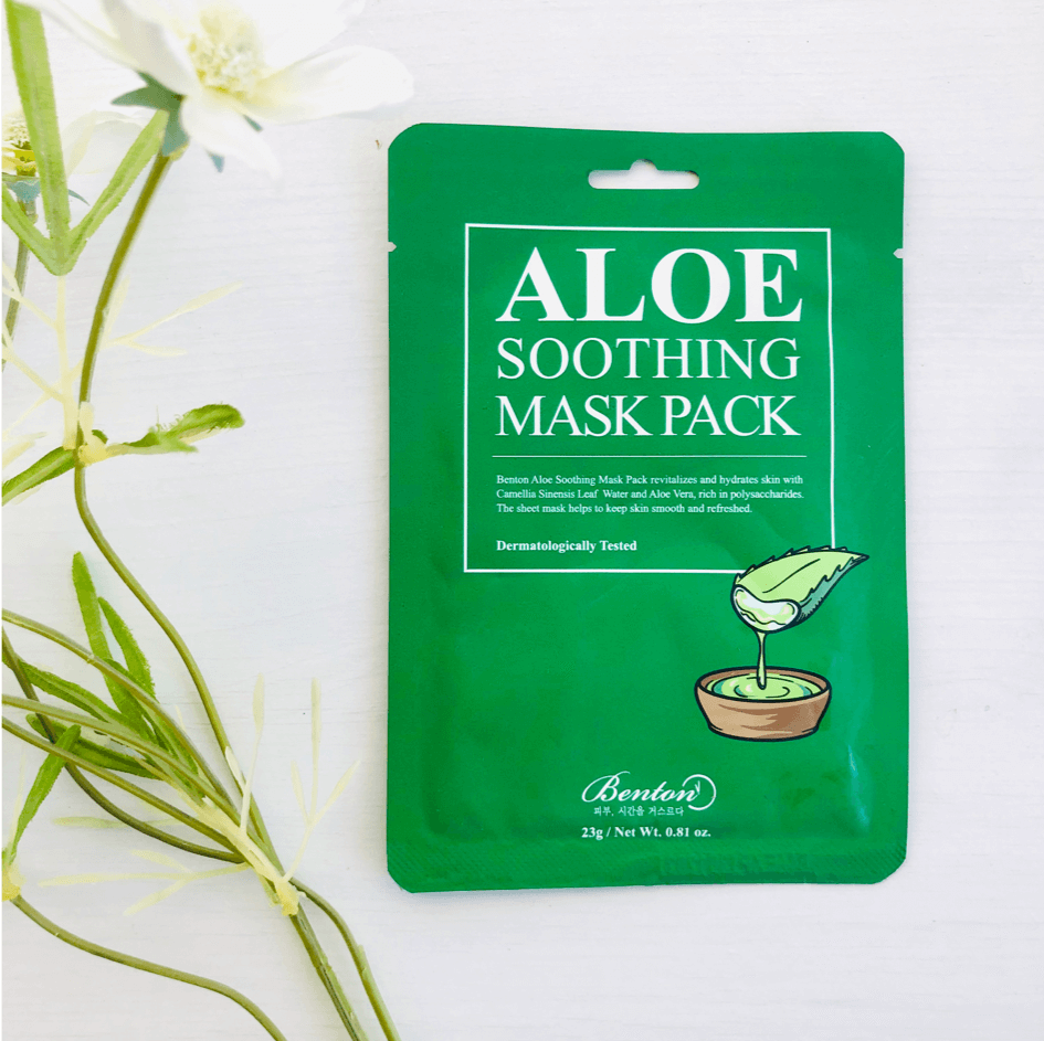 Sheet Masks - BENTON Aloe Soothing Mask Pack