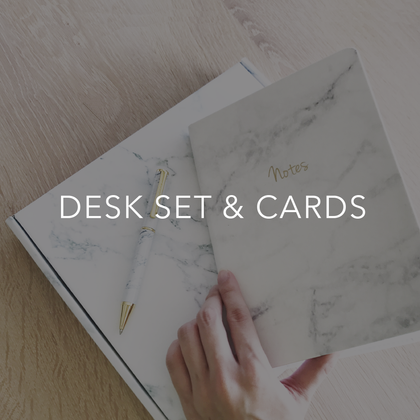 DESK SET & CARDS