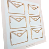 Paper Clips Envelopes- Set of 6 (Gold)