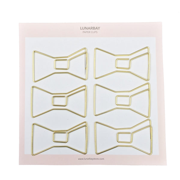 Paper Clips Bow - Set of 6 (Rose Gold)