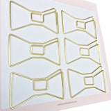 Paper Clips Bow - Set of 6 (Gold)