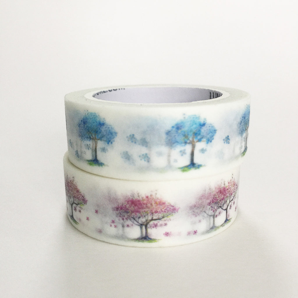 Pack of 2 - Cherry x Lasting Blue Washi Tape Bundle