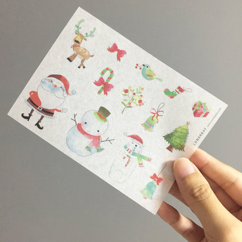 Washi Sticker - Santa X Snowman (Christmas) Pack
