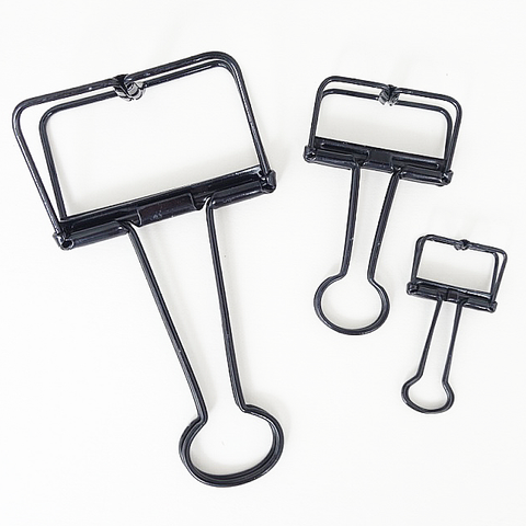 Skeleton Binder Clips (Black)