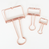 Skeleton Binder Clips (Rose Gold)