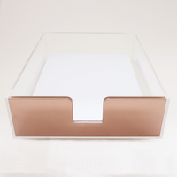 Acrylic Paper Tray (Rose Gold)