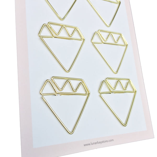 Paper Clips Diamonds - Set of 6 (Rose Gold)