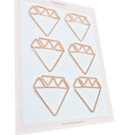 Paper Clips Diamond - Set of 6 (Gold)