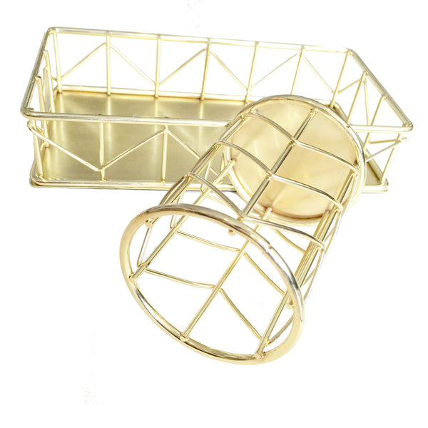 Wire Holder and Tray set (Gold)