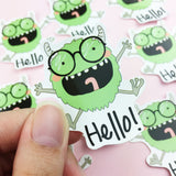 Vinyl Sticker - Hello Monster