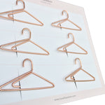 Paper Clips Hangers - Set of 6 (Rose Gold)