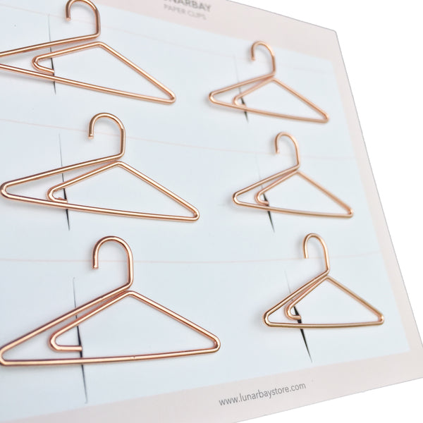 Paper Clips Hangers - Set of 6 (Gold)
