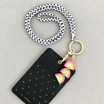 Lanyard With Triple Rainbow Charm (Choose your own strap pattern)