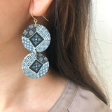 Oriental Tiles Long Earrings