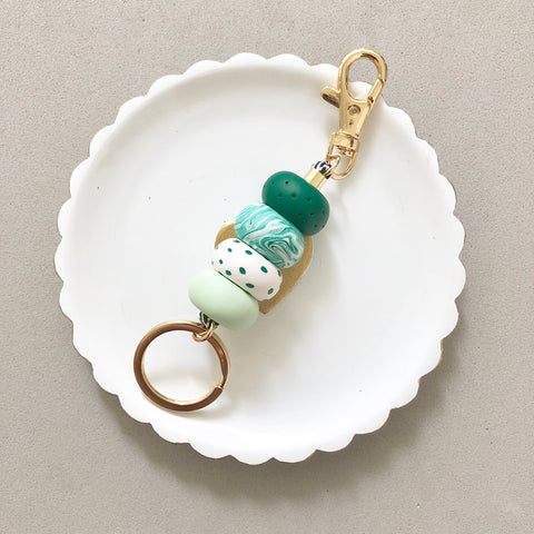 Keychain Green & Emerald
