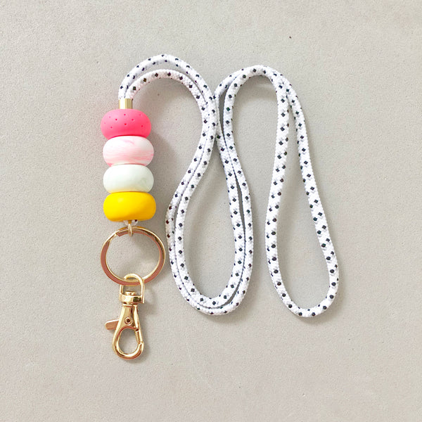 Strap (Custom Length) Polka Dot Lanyard Colourful Keychain
