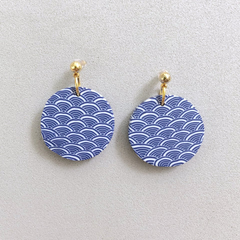 Royal Blue Gold Stud Earrings