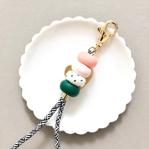 Muted Forest Lanyard Key Chain / Wristlet Strap