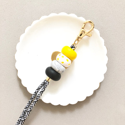 Strap (Custom Length) BumbleBee Keychain Lanyard [Stripes Strap]