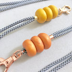 Gold and Rose Gold Lanyard Key Chain / Wristlet Strap