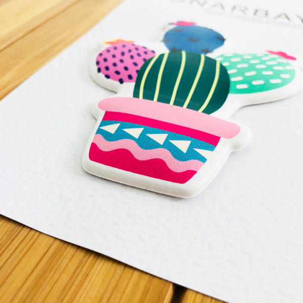 Puffy Sticker - Glam Cactus