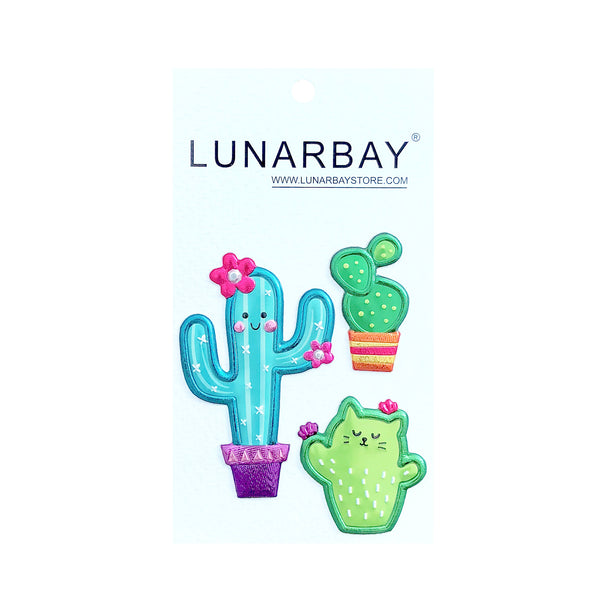 Puffy Sticker - Shiny Cactus with Metallic Foil