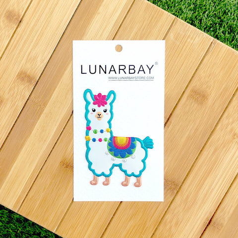 Puffy Sticker - Shiny Llama with Metallic Foil