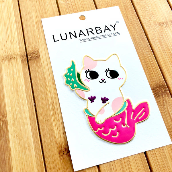 Puffy Sticker - Fortune Kitty Mermaid